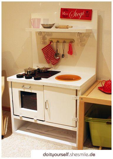 KinderkUche Aus Holz Von Ikea ~ Ideengalerie Selbstgebaute Kinder Spielküche aus Holz Die