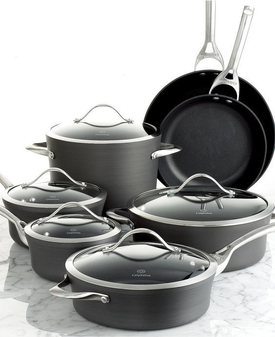 Contemporary Nonstick Calphalon Cookware… Best pots and pans you can buy a very good investment and I love cooking with them everyday!: