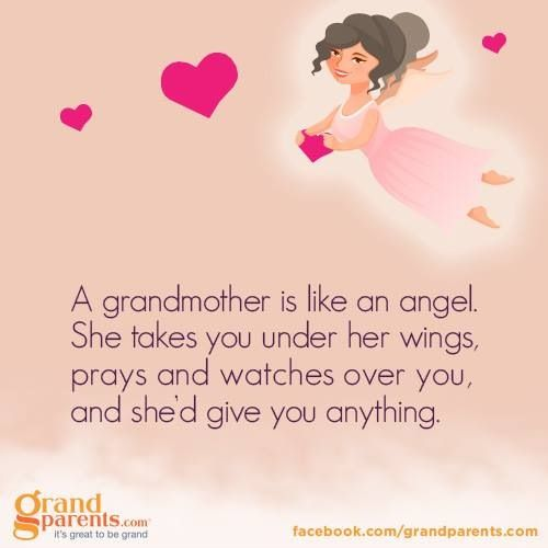 Grandmother Is Like An Angel.