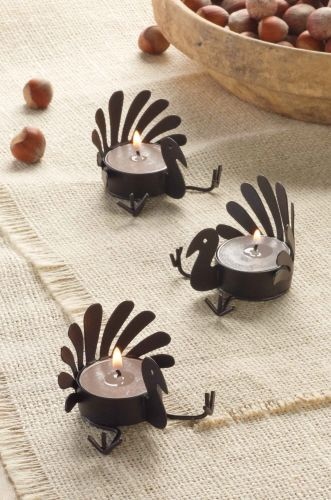 Make Thanksgiving a little more festive with these turkey votives. // Now available at Write Impressions