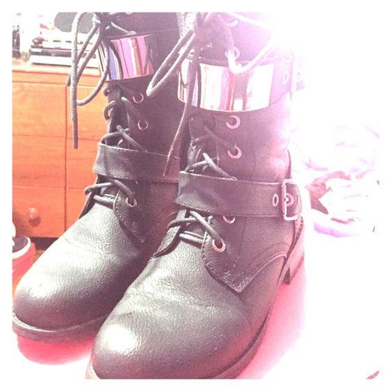 Black combat boots Perfect condition Charlotte Russe Shoes Combat & Moto Boots