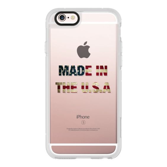 Made in the U-S-A - iPhone 6s Case,iPhone 6 Case,iPhone 6s Plus... ($40) ❤ liked on Polyvore featuring accessories, tech accessories, iphone case, iphone cases, iphone cover case, apple iphone cases, clear iphone cases and iphone hard case