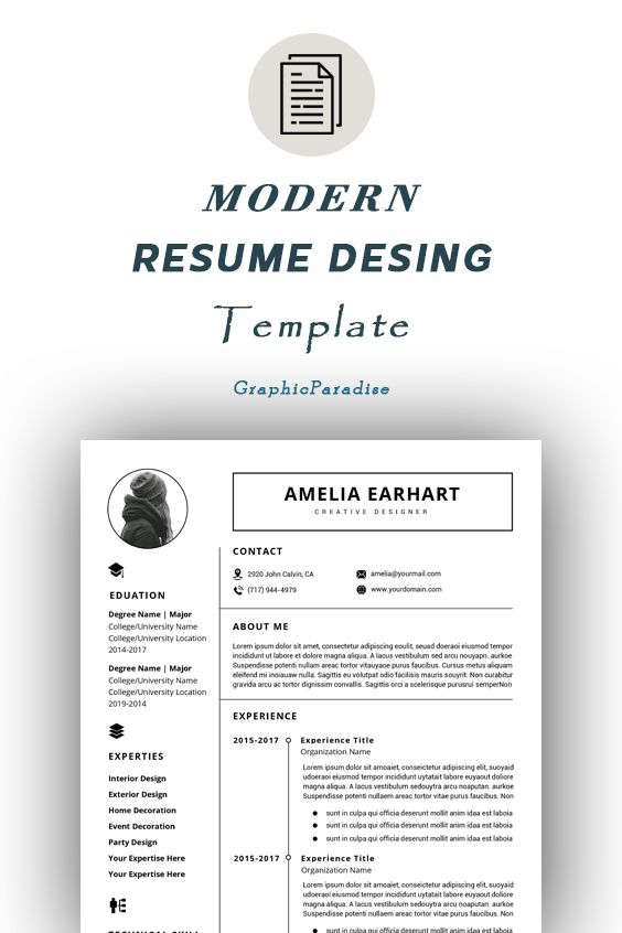 Resume Template Professional Resume Template Instant Download 3 Page Resume Template And One Page Reference Resume Template Word Cv Resume Template Word Teacher Resume Template Resume Template