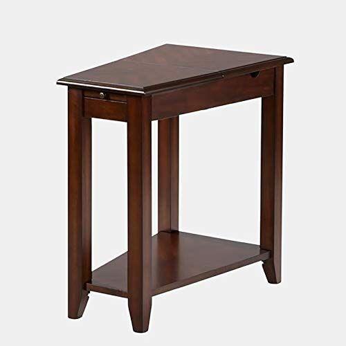 Best Seller Wedge Shape Wood End Table End Table Usb Port Inside