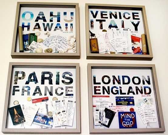 This is a super cute way to display you travel items!