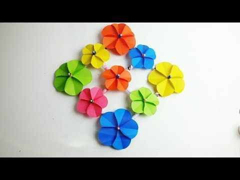 How To Make Easy Wall Hanging At Home Paper Flower Wall Hanging