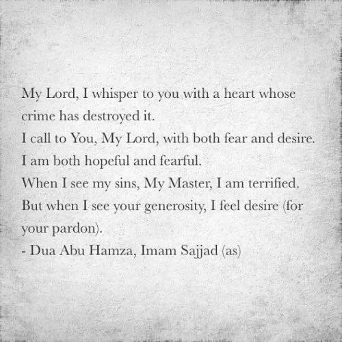 dua abu hamza imam sajjad as islamic quotes and