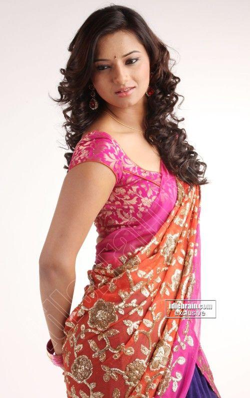 Isha chawla in Saree with designer blouse