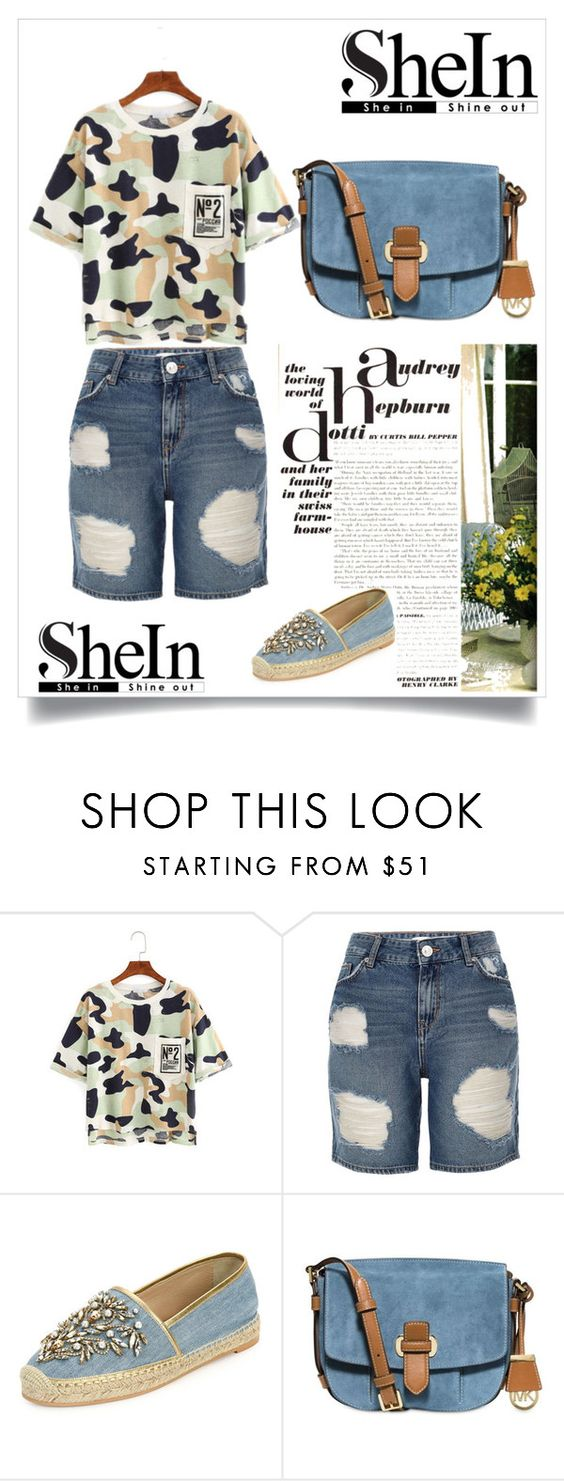 """Untitled #613"" by suad-nisveta-mesic ❤ liked on Polyvore featuring beauty, River Island, René Caovilla and MICHAEL Michael Kors"