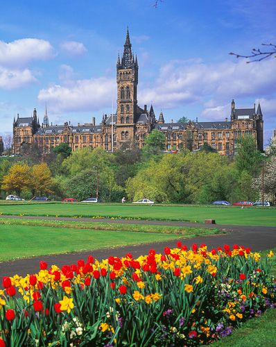 Glasgow University, Scotland, founded in 1451 by Bishop William Turnball. Its the fourth oldest university in the English speaking world