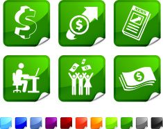 currency trading profits royalty free vector icon set stickers vector art illustration