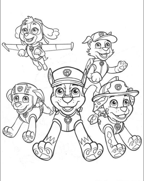 Childrens Coloring Pages Paw Patrol : Paw patrol to the rescue coloring page free for kids