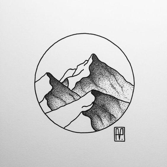 Line Art Mountain : Mountain line tattoo google search tattoos i would