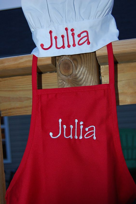 Personalized Toddler Chef Hat & Apron by SewByL on Etsy