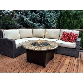 Terrace 4 Piece High Back Curved Sectional On Sale Now