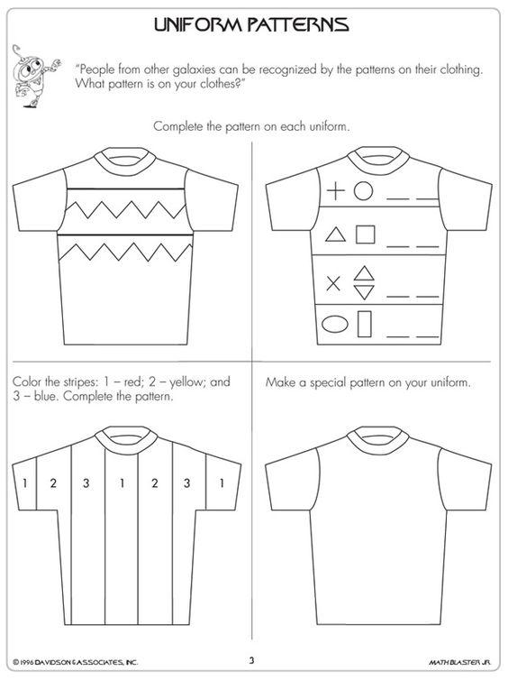 math worksheet : uniform patterns quot;  1st grade math worksheets jumpstart  : Math Worksheets Patterns