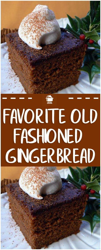 Old-fashioned gingerbread is the perfect treat to keep on hand during the holidays. There are many different versions: from the darkest, densest cakes made with festive delight!