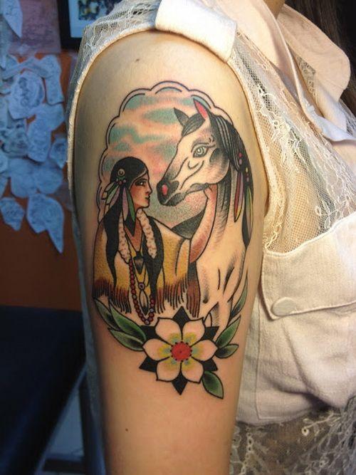 Upper Arm Tattoo Design For Girl - http://tattooideastrend.com/upper-arm-tattoo-design-for-girl/ - #Design, #Girl, #Tattoo