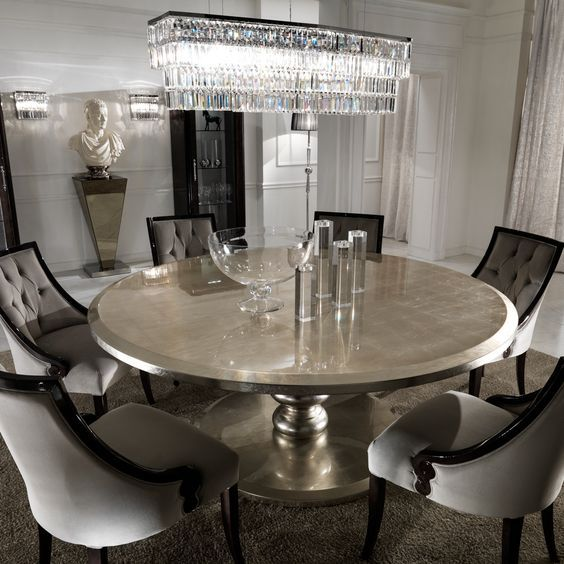 10 Round Dining Tables To Create A Cozy And Modern Decor Round Dining Room Table Large Round Dining Table Dining Room Table Set