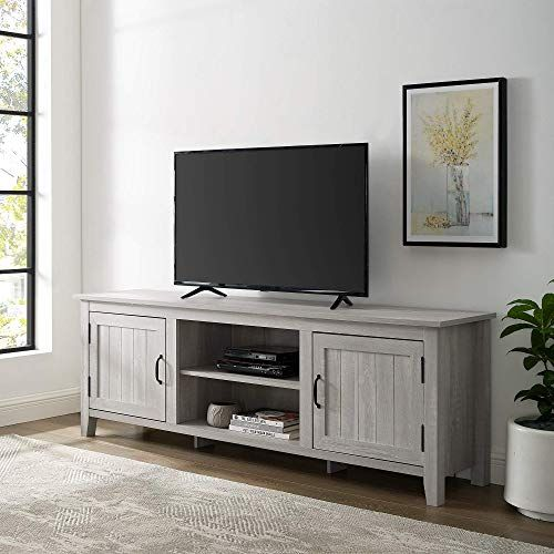 New We Furniture Az70cs2dst Tv Stand 70 Stone Grey Online Shopping Perfectfurniture Living Room Storage Grey Furniture Living Room Furniture