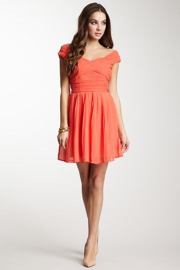 BB DAKOTA Anu Gathered Chiffon Dress