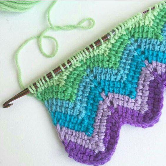 Tunisian Crochet Knit Stitch In The Round : 1000+ ideas about Tunisian Crochet Stitches on Pinterest Tunisian Crochet, ...