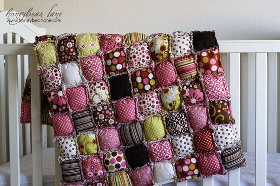 Puff Quilt and Rag Quilt Combined--super easy to make!