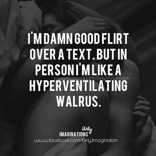 Text flirting via Dirty Imaginations