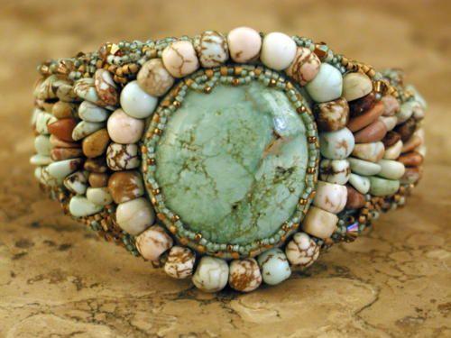 .: Beaded Bracelets, Jewelry Bracelets Cuffs 1, Turquoise Jewelry, Cuff Bracelets, Beaded Jewelry, Turquoise Bracelet