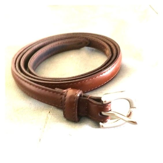 Coach! Belt Thin brown belt worn several times on decent condition with wear shown Coach Accessories Belts
