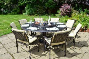 *** TABLE PLATEAU TOURNANT ***  La table de jardin à plateau tournant, notre spécialité !  CONTACTER CETTE ENTREPRISE POUR AVOIR UNE TABE FAITE SUR MESURE.  La table de jardin à plateau tournant, notre spécialité !