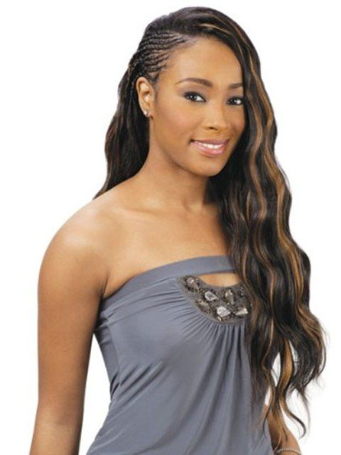 african american hair extensions styles braided hairstyles with wavy hair extensions 7439 | 405c87b145ba88bf95e9a1999acd219e