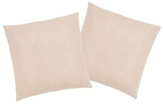 Unifarbene Kissenhülle »Indira« der Marke my home. Moderne Farben und eine Musterprägung im Ethno-Stil machen diese Kissenhülle zu einem dekorativen Wohnaccessoire. Der Bezug ist aus Polyester und Elasthan gefertigt und besitzt einen praktischen Reißverschluss, so dass Sie eine passende Füllung im Handumdrehen beziehen können. Außerdem können Sie die Hülle bei 30° C in der Maschine waschen. Mac...