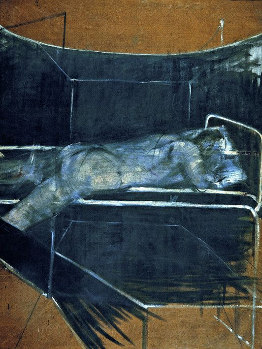 Francis Bacon, 'Lying Figure' c.1953, © The Estate of Francis Bacon / DACS London 2014. All rights reserved. - See more at: http://www.francis-bacon.com/blog/catalogue-raisonne-final-call-for-works/#sthash.bIpMsUkA.dpuf