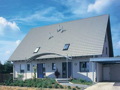 Moderne Eindeckung beim #Dach: die Frankfurter Pfanne in #grau.