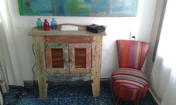 Mueble Aparador Recibidor Rustico 100x70x30 - $ 860,00 en MercadoLibre
