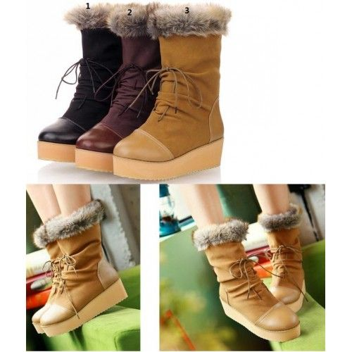 Stivali da neve carino con pelliccia Lace Up Boots Bikerlaaezen Size 32 33 34 35-43 Senza Hak