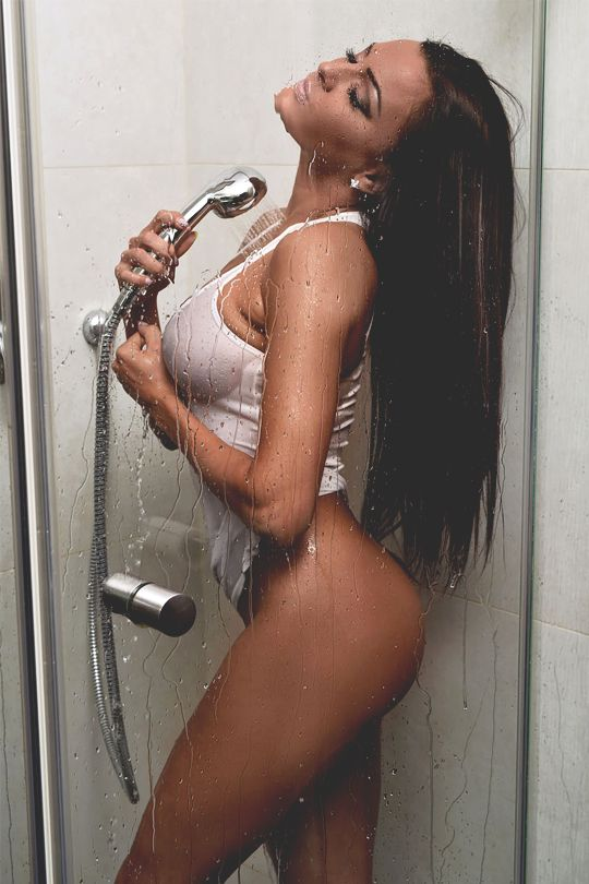hot girl shower