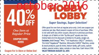 Free Printable Coupons: Hobby Lobby Coupon