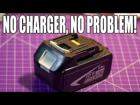 Charging A Drill Battery Without An Official Charger Youtube Charger Power Tool Batteries Battery Hacks