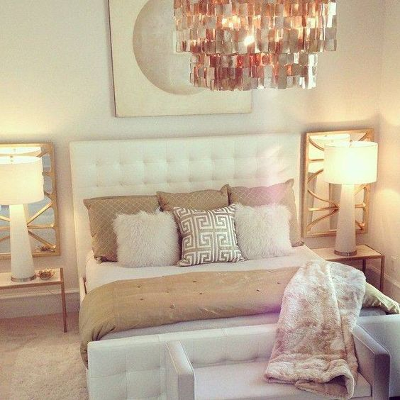 Switch Out Gold For Silver In This One Lynn Bedroom Inspiration Pinterest Silver Gold