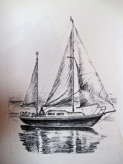 Drawing pencil boat | Art | Pinterest | Suche, Schiffe und ...