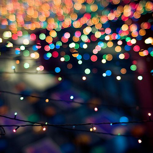 Sparkle: the lights are blurred out creating a sparkly look