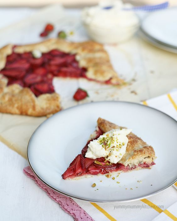 Easier than Pie: Balsamic Strawberry Crostata with Mascarpone Cream and Pistachios