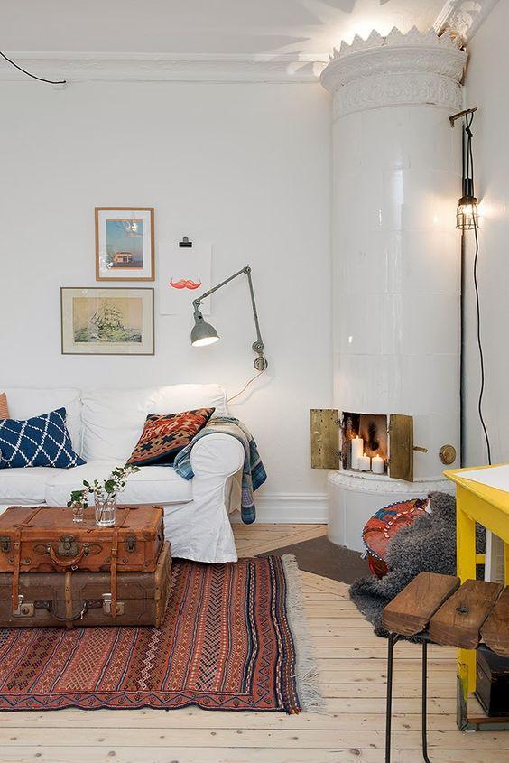 Kakelugn: Ode to the Swedish Stove | Casual living rooms, Mark ... : kakelugn inspiration : Inredning