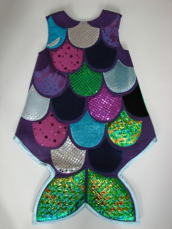 """Kostüme für Kinder - """"Glitzerschuppen-Fisch"""" - ein Designerstück von Zuckerhexe bei DaWanda"""