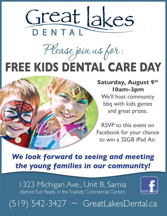 Another one of the signs that we used to advertise Dr Jennifer Thomm's Free Kids Dental Day hosted at Great Lakes Dental in #Sarnia on August 9, 2014. Thanks again to everyone who supported the event and allowed it to far exceed our lofty expectations.