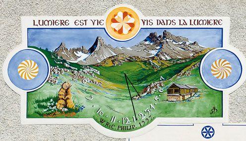 Cadran solaire à la Chalp d'Arvieux(Queyras - Hautes Alpes)