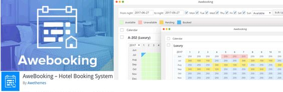 AweBooking – Hotel Booking System Plugin WordPress