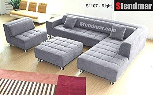 The Perfect 4pc Modern Grey Microfiber Sectional Sofa Chaise Chair Ottoman S1107rg In 2020 Microfiber Sectional Microfiber Sectional Sofa Sectional Sofa With Recliner